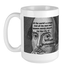 Playwright William Shakespeare Large Mug