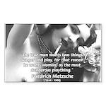 Desire for Women Neitzsche Rectangle Sticker
