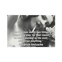 Desire for Women Neitzsche Rectangle Magnet