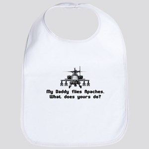 Daddy Flies Apaches Bib