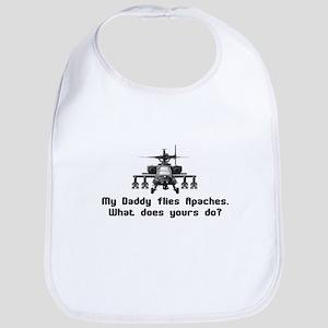 Daddy Flies Apaches Bib