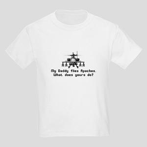 Daddy Flies Apaches Kids Light T-Shirt