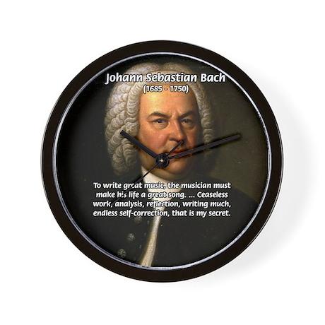 Composer J.S. Bach Wall Clock