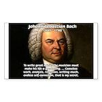 Composer J.S. Bach Rectangle Sticker