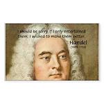 Handel's Messiah Rectangle Sticker