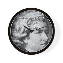 Music, Genius and Mozart Wall Clock