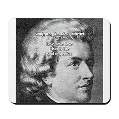 Music, Genius and Mozart Mousepad