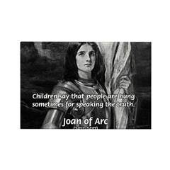 Heroine / Saint Joan of Arc Rectangle Magnet