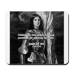 Heroine / Saint Joan of Arc Mousepad