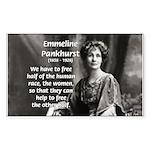 Suffragist Emmeline Pankhurst Sticker (Rectangular