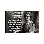 Suffragist Emmeline Pankhurst Rectangle Magnet