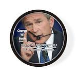 Terrorism George W. Bush Wall Clock