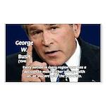 Terrorism George W. Bush Rectangle Sticker