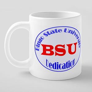 B S U 2 mug 20 oz Ceramic Mega Mug