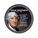 Politics: George Washington Wall Clock