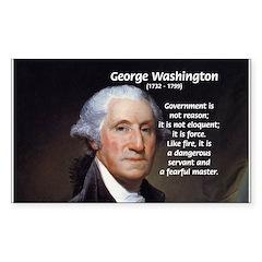 Politics: George Washington Rectangle Decal