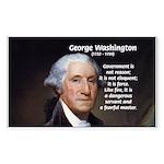 Politics: George Washington Rectangle Sticker