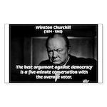 Sir Winston Churchill Rectangle Sticker