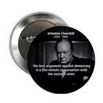 Sir Winston Churchill Button