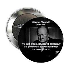 Sir Winston Churchill Button