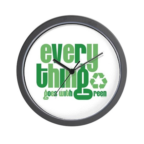 Everything Green Wall Clock