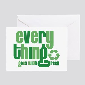 Everything Green Greeting Card