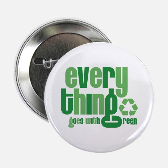 """Everything Green 2.25"""" Button"""
