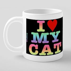 heartmycat8.31x3rainbow 20 oz Ceramic Mega Mug