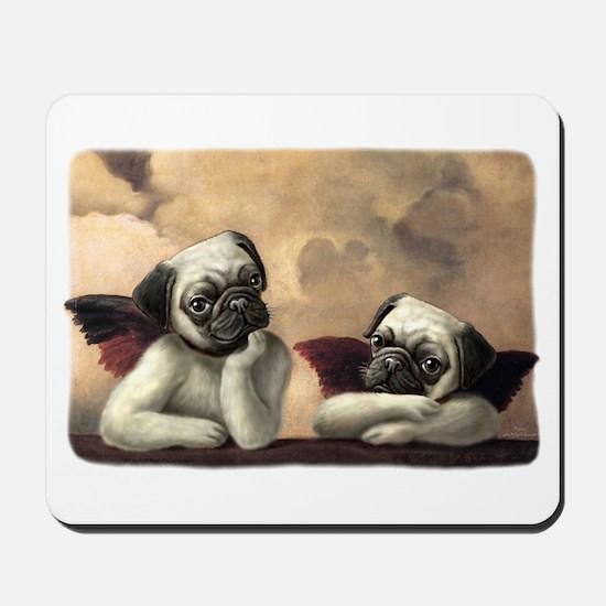 Pug Angels No Slogan Mousepad