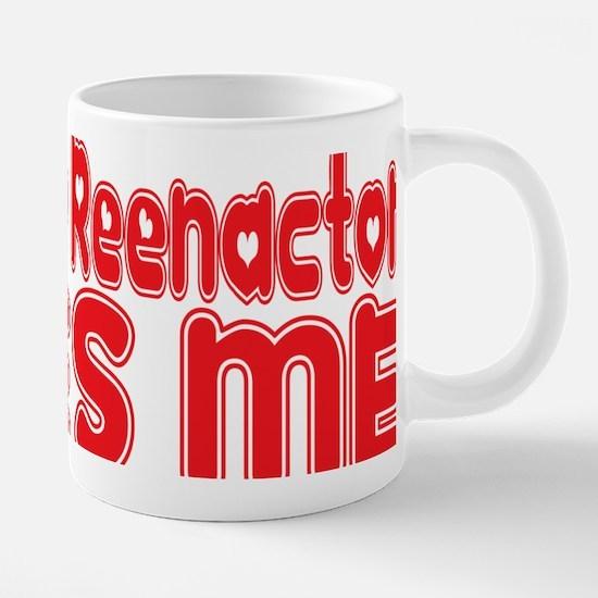 abc499 A Civil War Reenacto 20 oz Ceramic Mega Mug