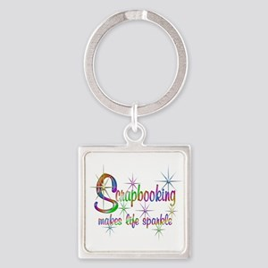 Scrapbooking Makes Life Sparkle Keychains