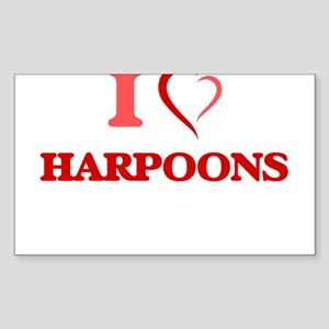 I love Harpoons Sticker