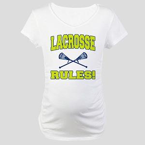 Lacrosse Rules Maternity T-Shirt