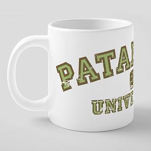 PatanjaliUniv_GreenBrown.pn 20 oz Ceramic Mega Mug