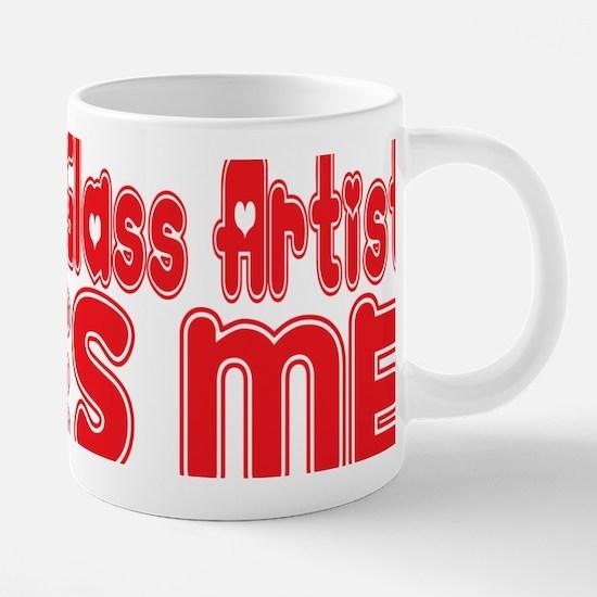 abc683 A Stained Glass Arti 20 oz Ceramic Mega Mug
