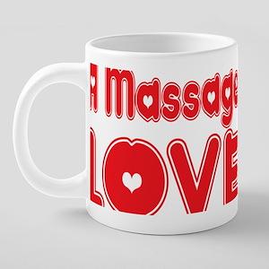 abc706 A Massage Therapist. 20 oz Ceramic Mega Mug