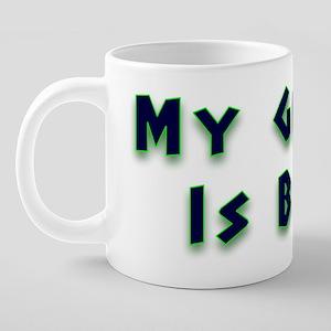 glow green 1 20 oz Ceramic Mega Mug