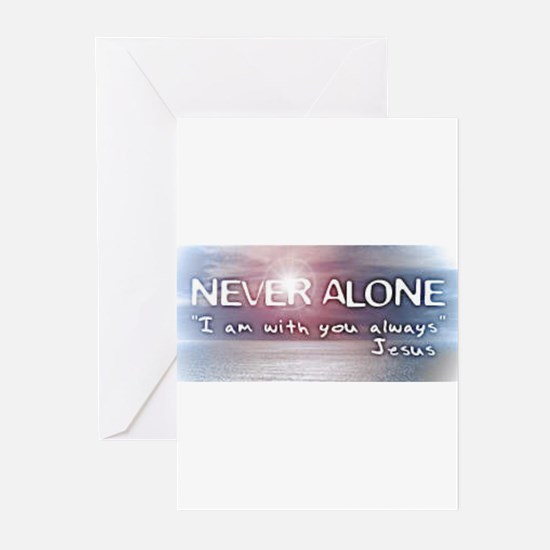 Unique I am alone Greeting Cards (Pk of 20)