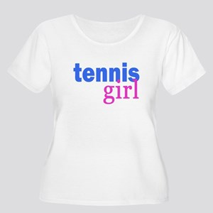 tennis girl Women's Plus Size Scoop Neck T-Shirt