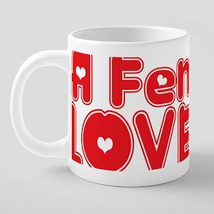abc818 A Feminist 20 oz Ceramic Mega Mug