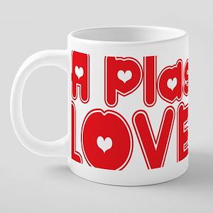 abc820 A Plasterer 20 oz Ceramic Mega Mug