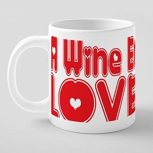 abc826 A Wine Enthusiast.pn 20 oz Ceramic Mega Mug