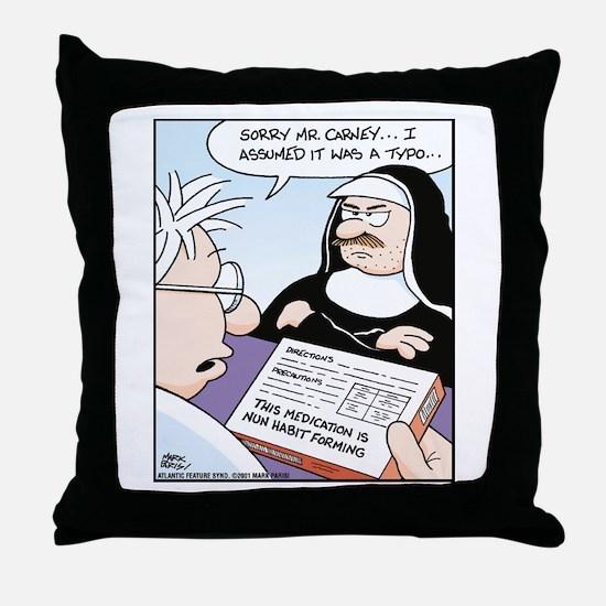 Habit Forming Throw Pillow