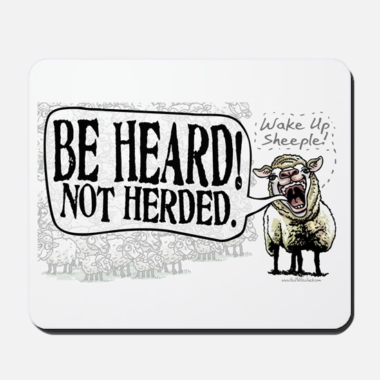 Be Heard Activist Protest Mousepad