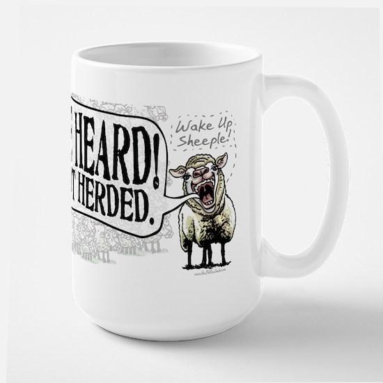 Be Heard Activist Protest Large Mug