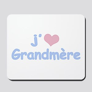 I Heart Grandmother French Mousepad