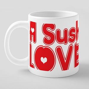 abc951 A Sushi Chef 20 oz Ceramic Mega Mug