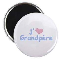 I Heart Grandfather French Magnet
