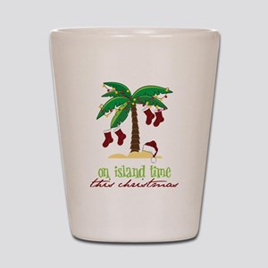 On Island Time Shot Glass