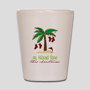 On Island Time Shot Glass